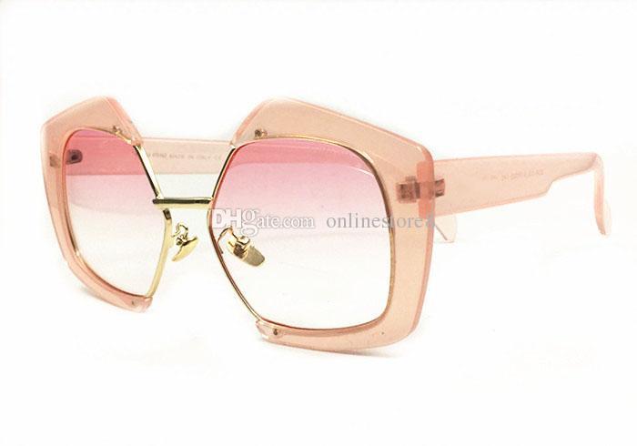 نجمة المد العلامة التجارية السيدات نظارات شمسية عصرية SMU شخصية شعبية كبيرة نصف إطار نظارات المرأة تأتي مع المربع الأصلي