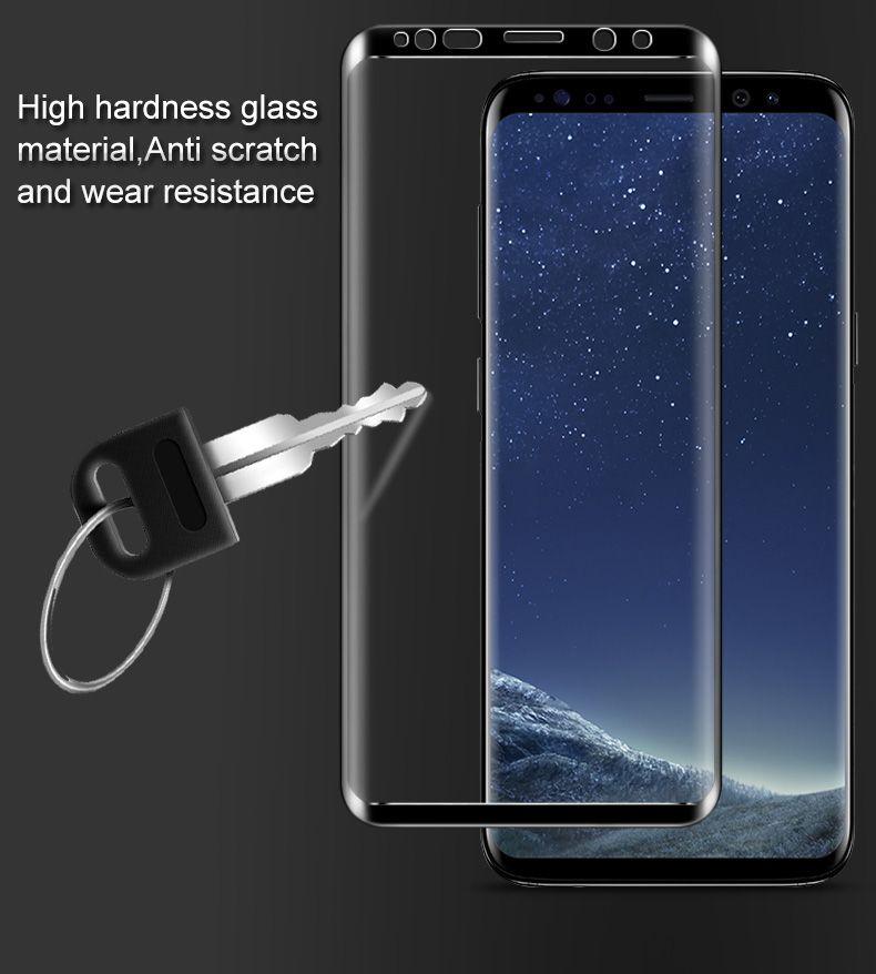 Imak Pour Samsung Galaxy S9 3D incurvée plein écran en verre trempé Protecteur d'écran pour Samsung Galaxy S9 Plus Flim de protection