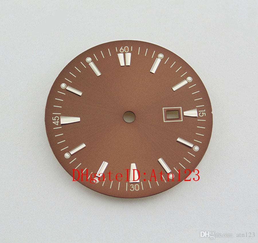Bliger 46 мм черный безель серебро нержавеющая сталь наручные часы Наручные часы корпус циферблат Fit Mingzhu DG2813 / 3804 Miyota 8205/8215 / 821A механизм P434