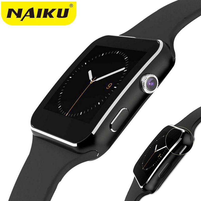 d84a975e426 Compre NAIKU Bluetooth Relógio Inteligente NK6 Esporte Passometer Smartwatch  Com Suporte Para Câmera SIM Card Whatsapp Facebook Para Android Phone De ...