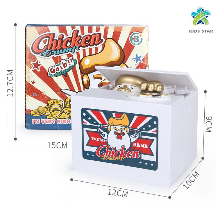 Electronic Chicken Trump Automatic Stole Coin Money Saving Banks Moneybox Christmas Gift Piggy Bank Saving Box Money Box Kid Child Gift