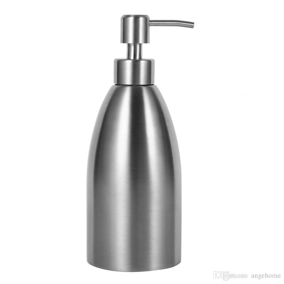500ml Stainless Steel Soap Dispenser Kitchen Sink Faucet Bathroom Shampoo Box Soap Container Deck Mounted Detergent Bottle