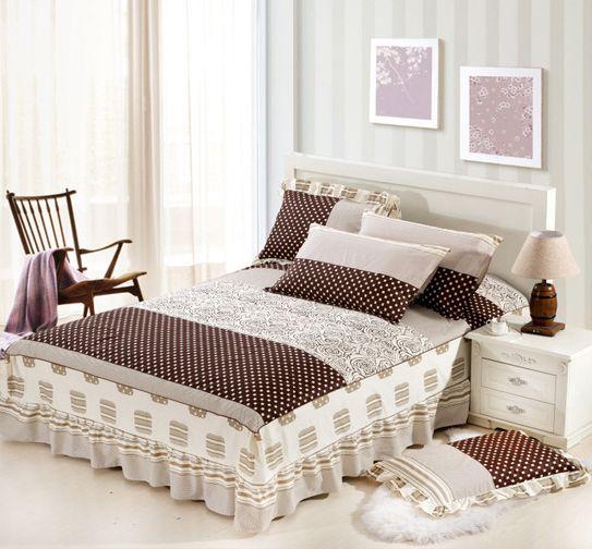 Grosshandel Baumwolle Bett Rock Bett Rock Mit Gummiband Bettdecke