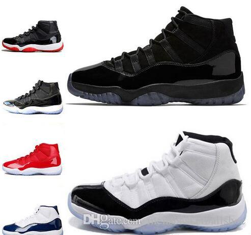 50bfe74f99a90e Mens Basketball Shoes Concord 11 11s Prom Night Men Blackout Easter Gym Red  Midnight Navy Barons Closing Bred Ceremony Sport Sneakers 5 13 Shoes For Men  ...