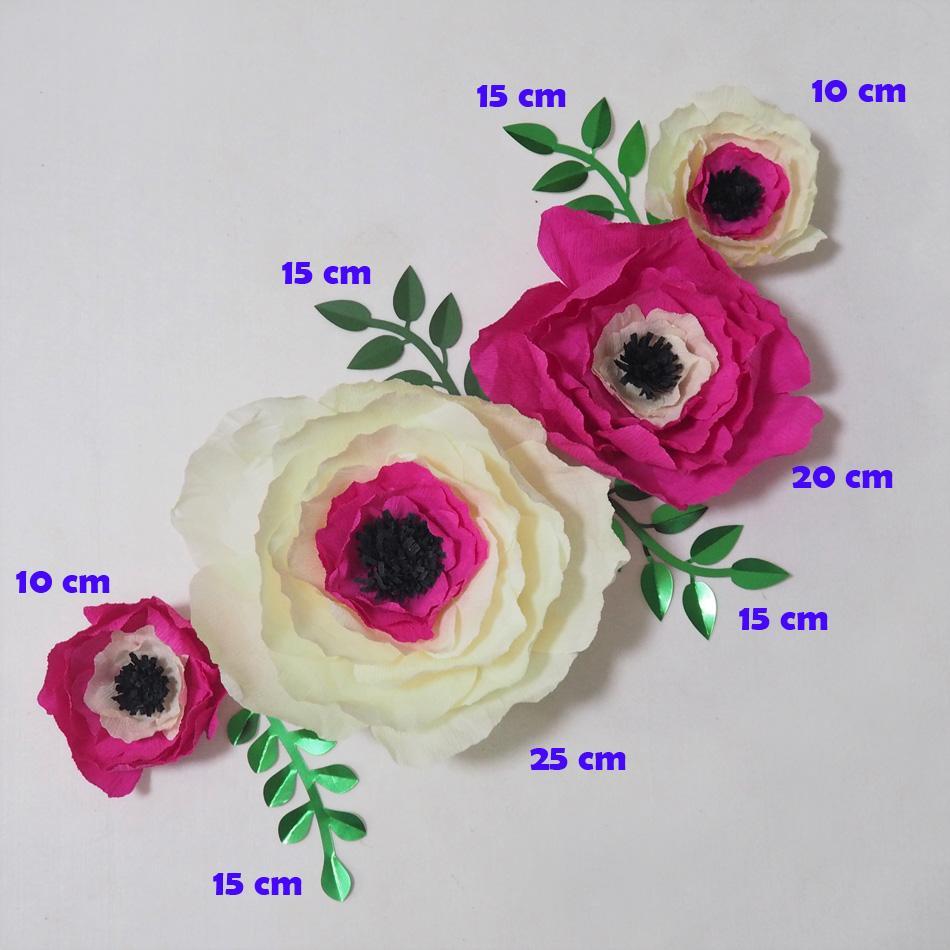 Compre Flores De Papel Crepe Gigante Artificial Flores Artificiale 4