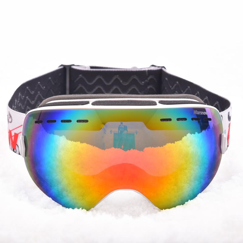 e4d0c24a9c 2019 Marsnow Spherical Ski Goggles Double Lenses Snowboard Goggle Winter  UV400 Anti Fog Snowmobile Windproof Eyewear Flexible Frame From Lahong