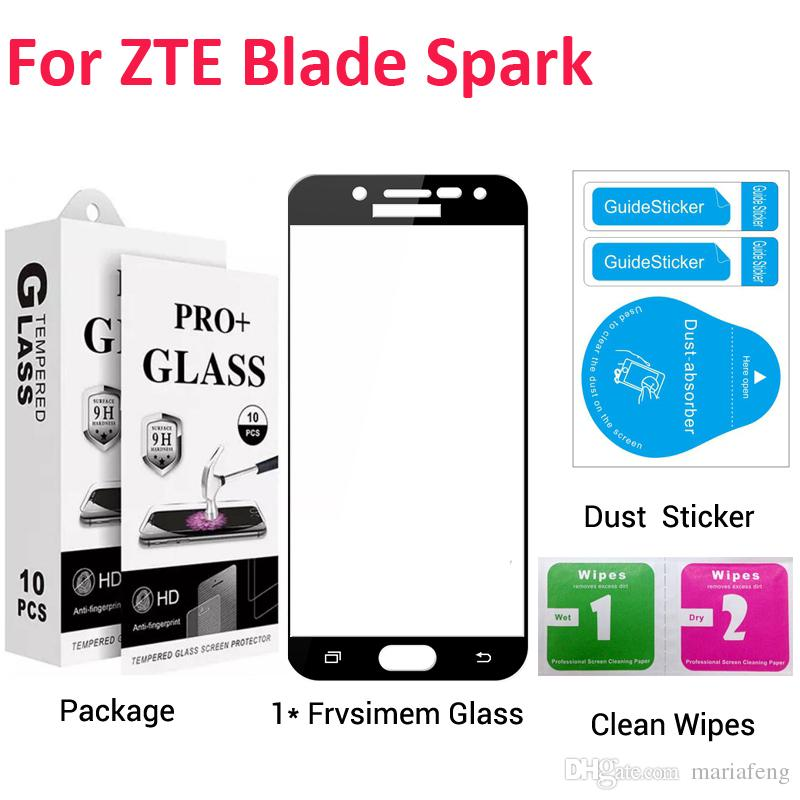 Для ZTE Blade Spark Z971 Grand X4 lte Z916 Zmax Champ Z971vl полное  покрытие закаленное стекло защитная