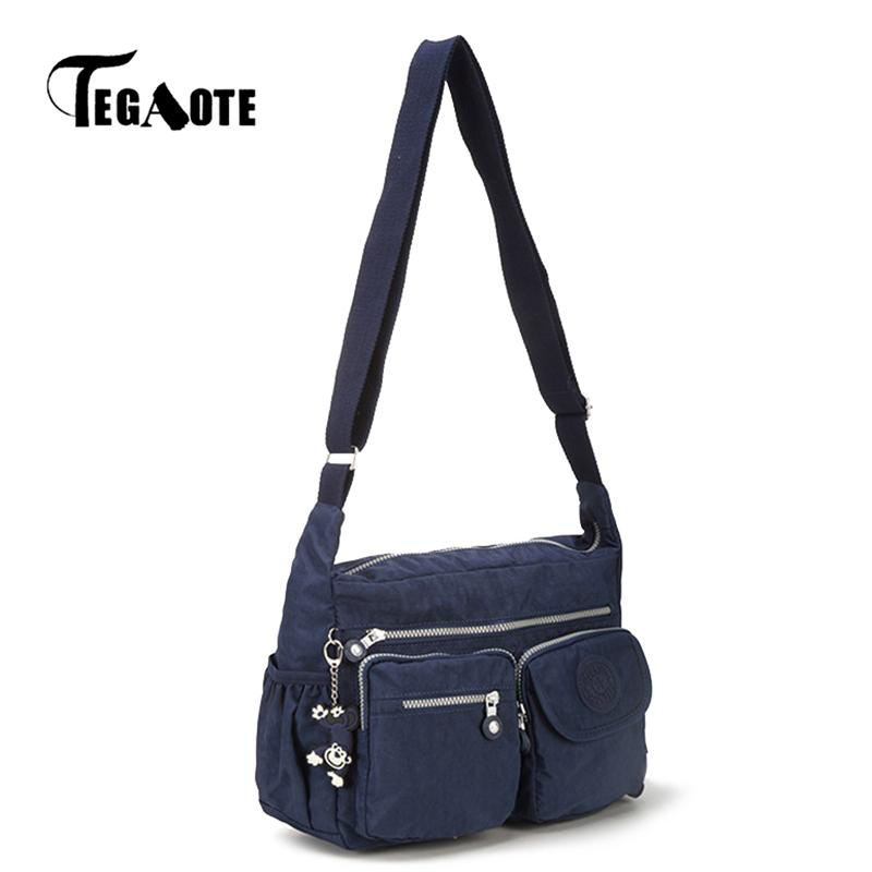 b03bb35e3437 TEGAOTE Female Shoulder Bags Handbags Women Famous Brands Bolsa Feminina  Purse Nylon Crossbody Beach Bag Sac A Main Black Blue Sac a Sac Brand  Handbags ...