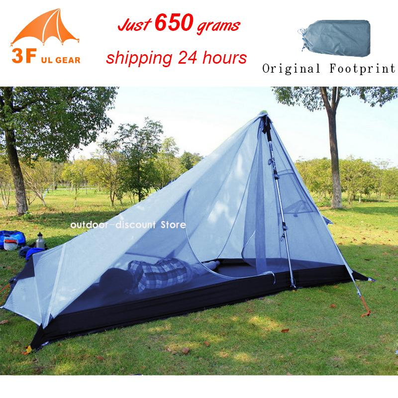 3F UL Gear Rodless Tent 650g Ultralight 15D Silicone Single Person C&ing Tent 1 Person 3 Season 1 Man With Footprint Lightweight Tents Coleman Tent From ...  sc 1 st  DHgate.com & 3F UL Gear Rodless Tent 650g Ultralight 15D Silicone Single Person ...
