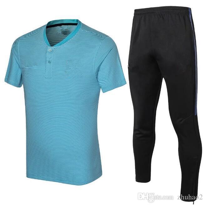 new arrival ac29a d4160 2018 2019 New MESSI Soccer shirt MESSI SUAREZ DEMBELE JR A.INIESTA PIQUE  football shirt Long pants soccer uniforms sale
