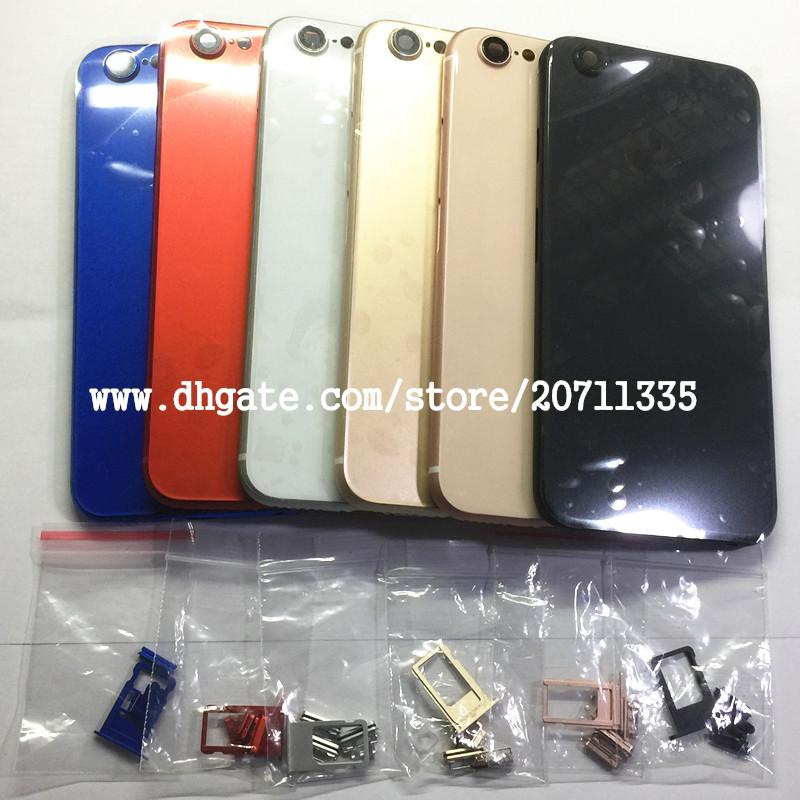 Une qualité pour l'iPhone 7 Comme 8 Style 8 Coque arrière Couvercle du logement de la batterie Porte Cadre du châssis central