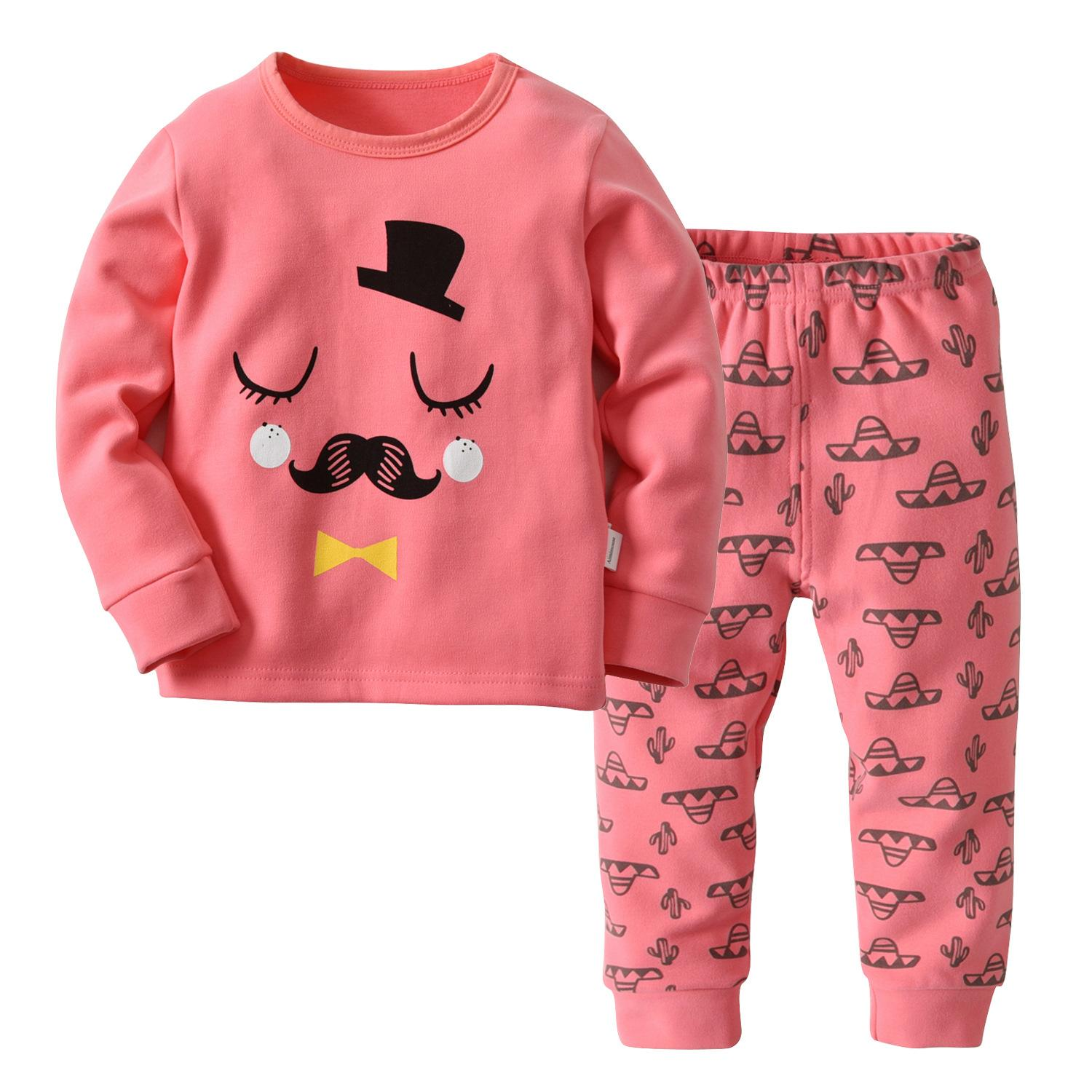961f382b0e 2-7Y Kids Pink Pijamas Baby Girls Boys Christmas Children Pajamas ...