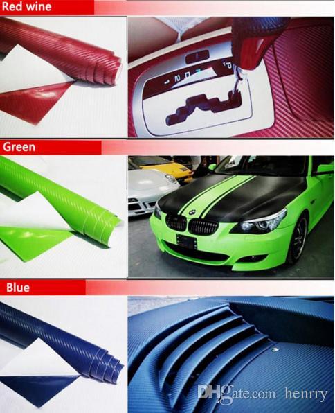 127CM*10CM 3D Color Modification Film Car Interior Whole Vehicle Color Change Paste Carbon Fiber Color Change Fiber Sticker