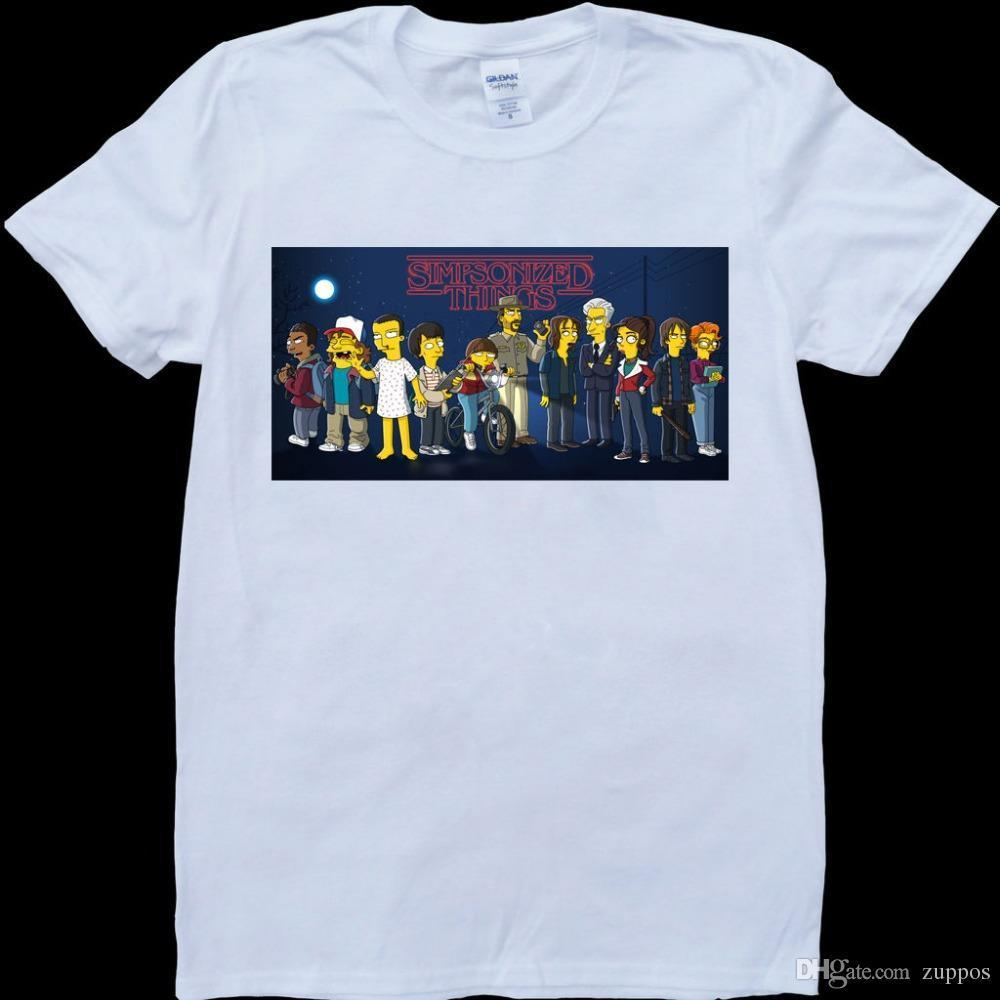Compre Stranger Things Characters Mens White 0cc5586a034