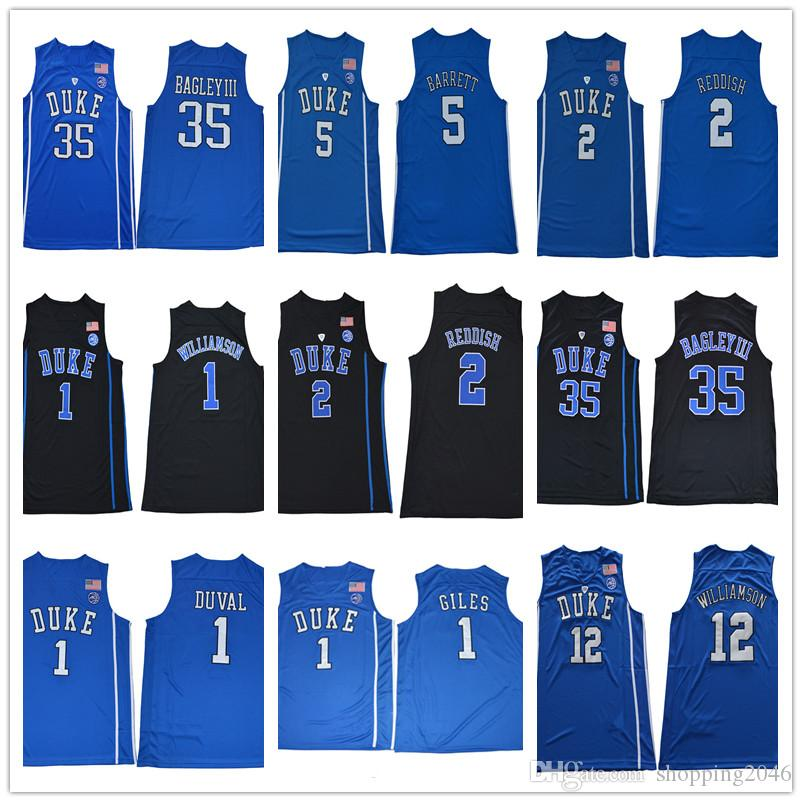2019 1 Zion Williamson Duke 35 Marvin Bagley III 5 RJ Barrett 2 Cam Reddish  NCAA College Basketball Jerseys Men Duval Harry Giles Stitched From  Shopping2046 ... 7d01c8a61
