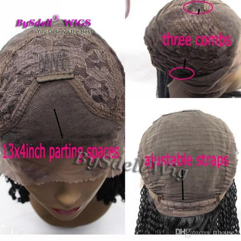 Wholesale Celebrity Rihanna Hairstyle brazilian Lazzy Loose wave wigs #1B Black Synthetic Glueless full Lace Front Wig with baby hair