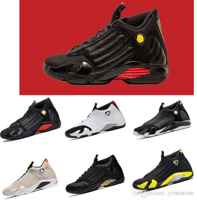 size 40 92f1d d17db Compre Zapatillas De Baloncesto 14 Para Hombre Zapatillas Rojas Amarillas  Verde Blanco Desert Sand DMP Negras Zapatillas Para Hombre Cool Gray  Zapatillas ...
