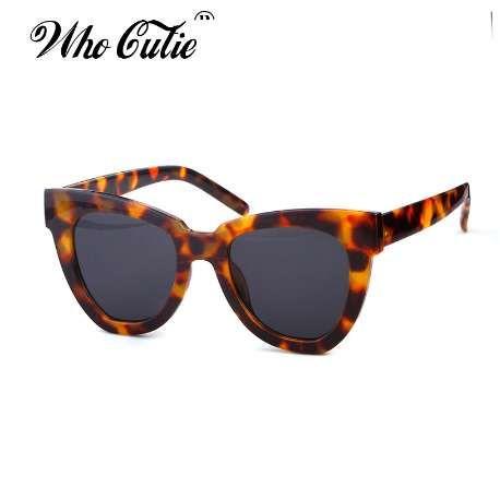 95b8a4cbd2af WHO CUTIE Oversized Cat Eye Sunglasses Women Brand Designer Vintage Sunnies Tortoise  Shell Cateye Sun Glasses Shades OM752 Sunglasses Hut Reading Glasses ...