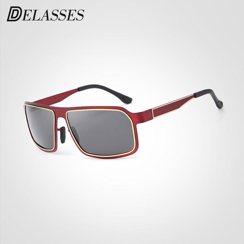 b8be5510516f7 Compre Delasses Marca Designer Brown Quadrado Polarizada Óculos De Sol Dos  Homens Uv400 Condução Do Vintage Óculos De Sol Eyewear Oculos Gafas Para  Homens ...