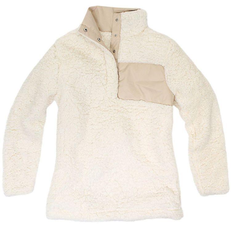 Sherpa Pullover Mujeres niñas grandes Otoño Invierno Sudadera Fleece 2018 nuevo Medio Botón Suéteres es DHL C3447