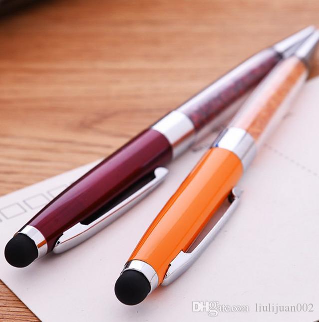 Stylo en métal cristal / stylo écran tactile cristal / stylo à bille multi-fonction livraison gratuite