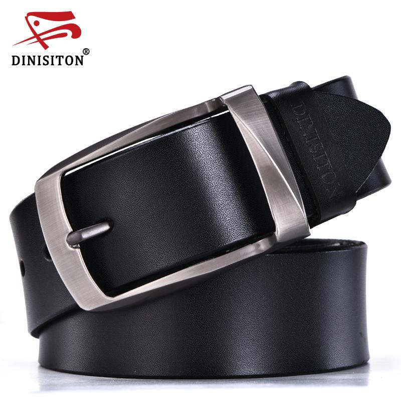 DINISITON alloy pin buckle belts cowhide belt man genuine leather high quality vintage jeans belt cinturones hombre