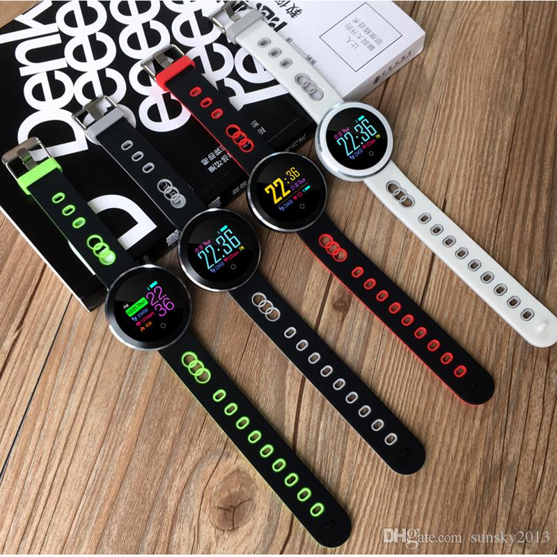 Blood Pressure/ Oxygen Smart Band Waterproof Sports Bracelet with Heart Rate Monitor Fitness Activity Tracker Color OLED Screen Q8 Pro