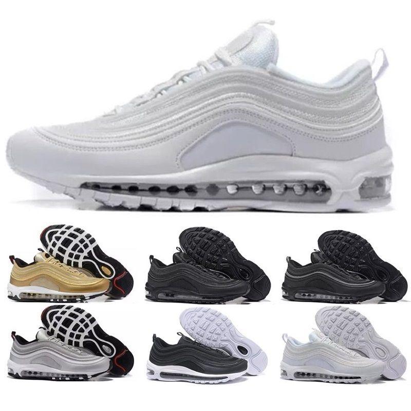 buy popular 0bd3d a30cc Acheter Nike Air Max Air 97 Livraison Gratuite Nouveau Tn Chaussures Hommes  Sneakers Respirant Air Cusion Chaussures Casual Chaussures De Course  Nouvelle ...