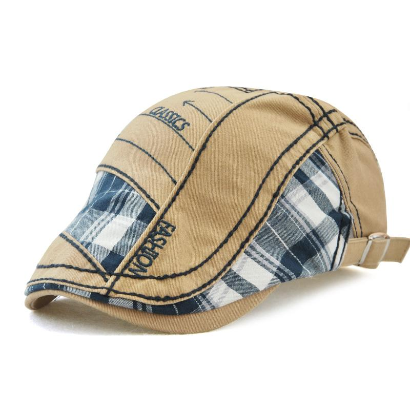 1f39e9b0ef3 2019 Brand Summer Caps For Men Cotton Beret Hats Casual Sun Cap Gorras  Planas Flat Caps Adjustable Patchwork Men s Berets Boina Bone From  Wutiamou