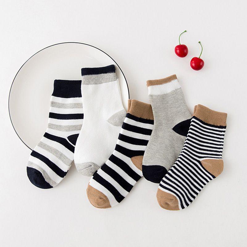 Baby Boys Girls Toddler Kids Knee High Length Cotton Stripes School Sport Sock.H