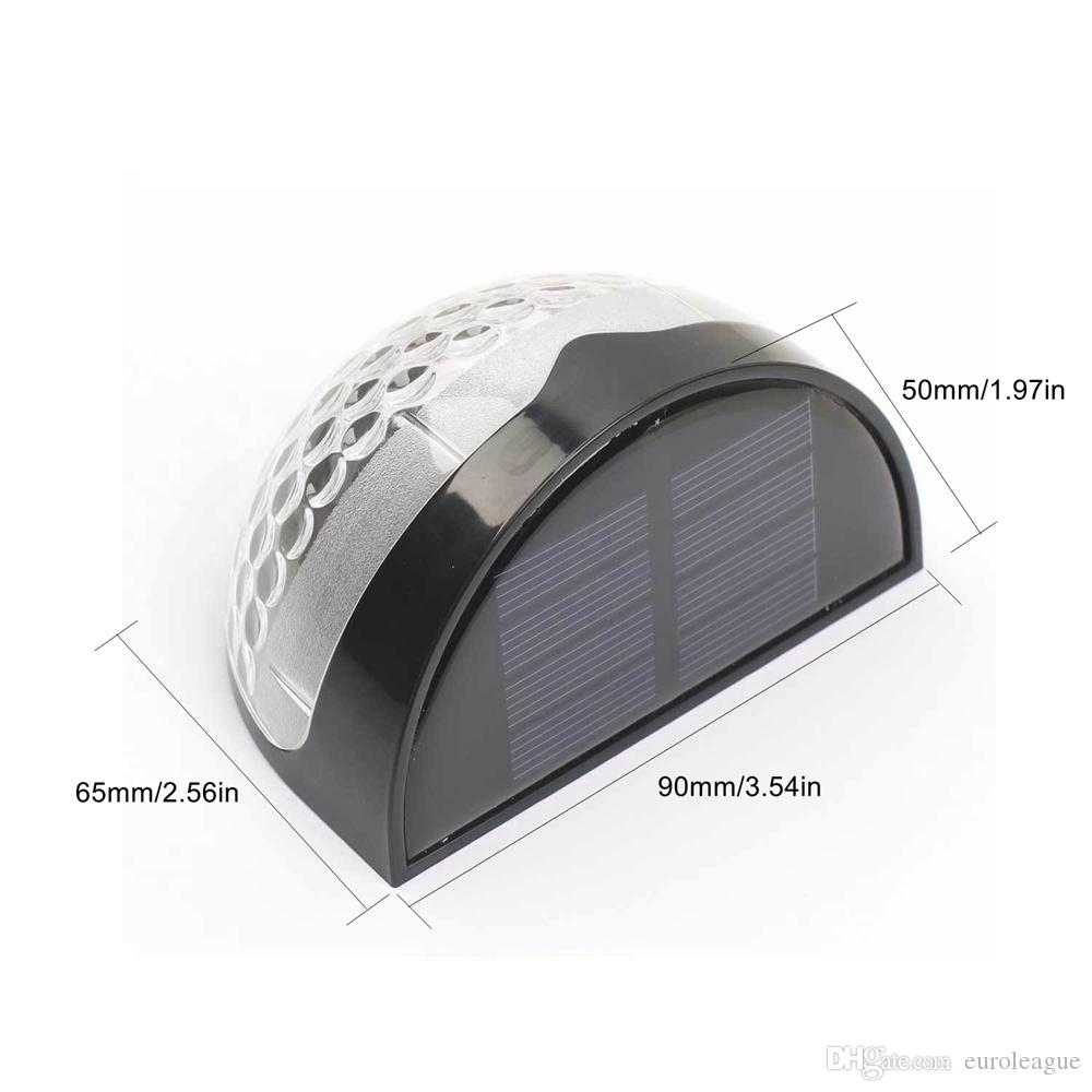 Solar Powered Step Light Outdoor 6 LED Security Garden Wall Shed Fence Lamp