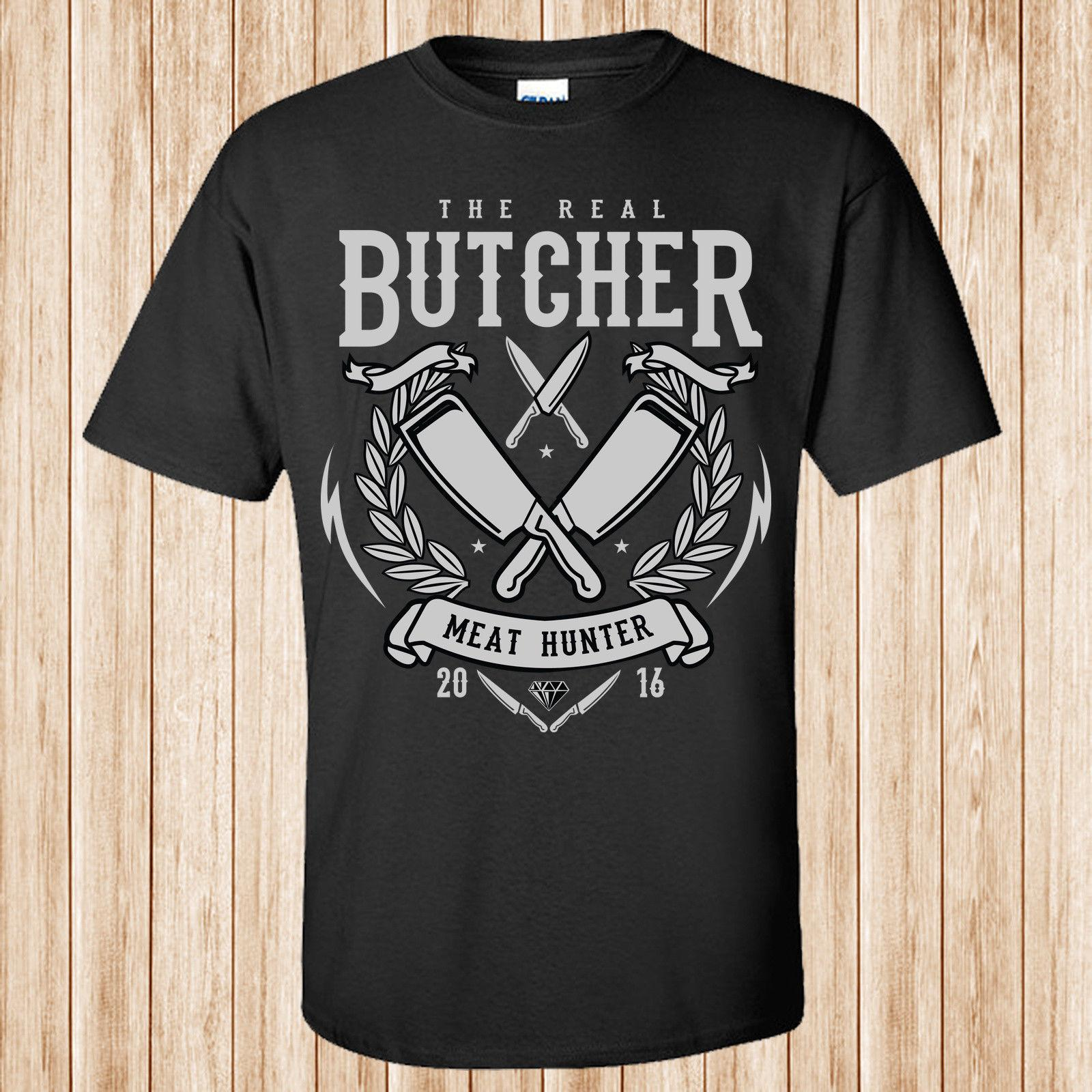 The Real Butcher camiseta 100% algodón Cool Tops Camiseta de manga corta divertida para hombre New 2018 Hot Summer Casual camiseta de impresión