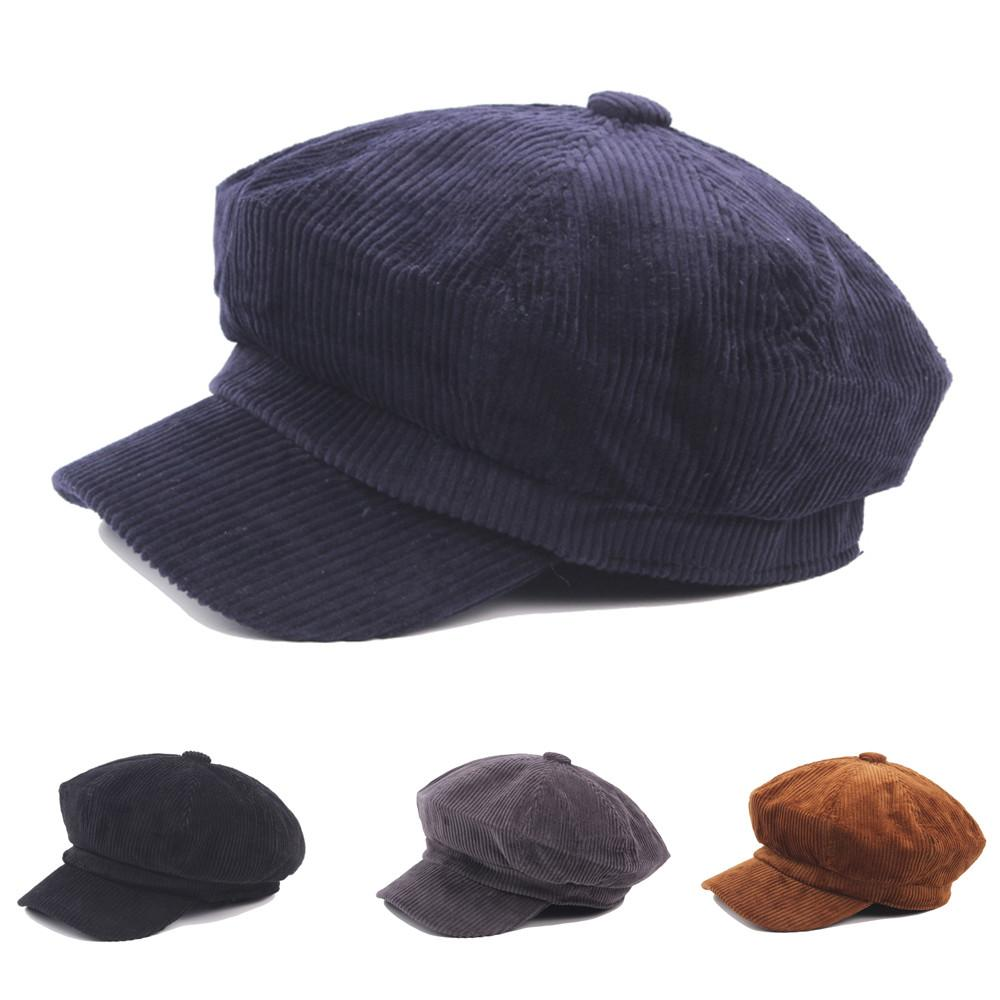 Beret Hat Female Beret Men Women Casual Cap Flat Octagonal Cap ... d3329f84b