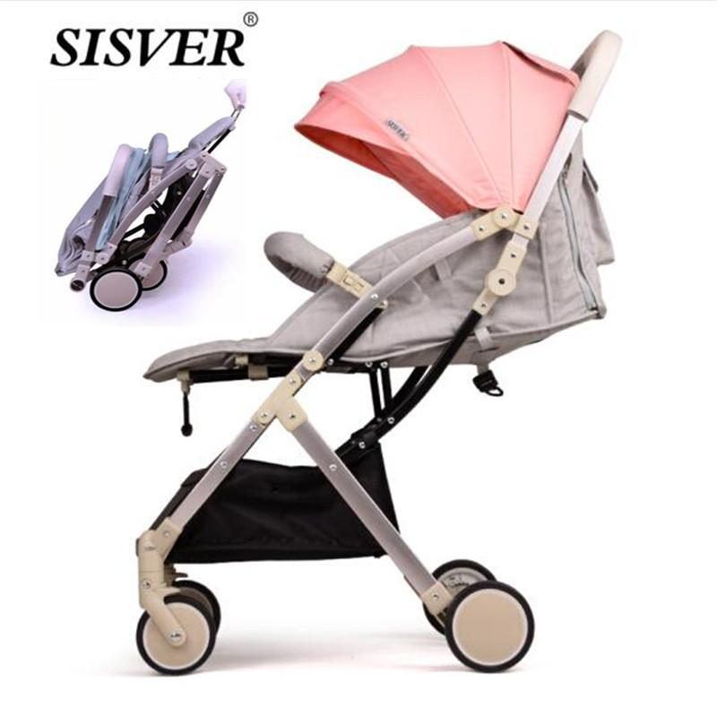 Folding Baby Stroller Portable Pram For Travel Lightweight Newborn Baby Car Carriage Can Carry On Plane Trolley