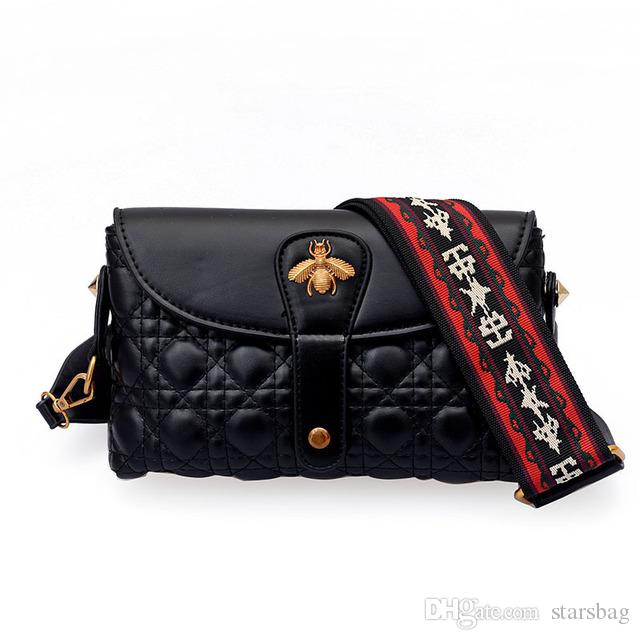 04f5e66822e6 Designer Women HandBags Ladies Crossbody Shoulder Bag Handbags Soft Leather  Brand Bee Female Messenger Clutch Tote Bags Black Purse Q 130 Side Bags  Handbag ...