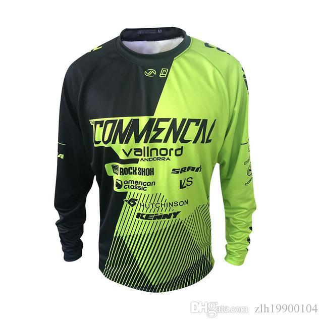 2018 Новый стиль Pro Team комендантский Джерси Ropa Горный велосипед Мотоцикл MTB DH с длинным рукавом MOTO Рубашка
