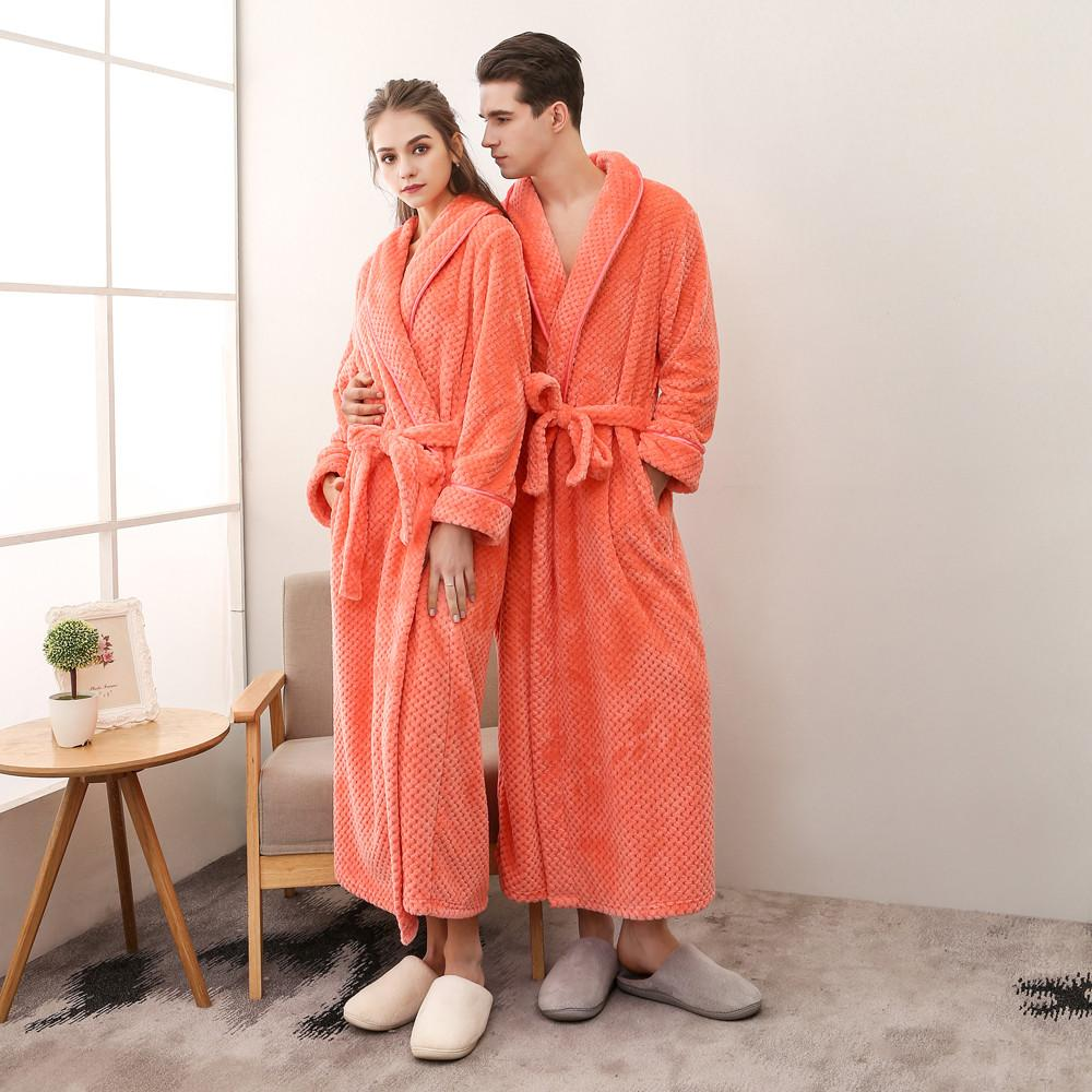 a628f42c8c 2019 Robe Plush Shawl Kimono Warm Male Bathrobe Coat Men S Winter  Lengthened Bathrobe Home Clothes Shawl Long Sleeved Robe Coat From  Yujian18