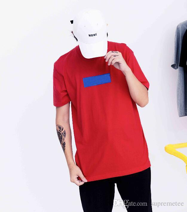 new concept f7299 77f43 Magliette rosse di alta qualità con scatola viola logo hip hop skateboard  estate uomo donna sport cotone casual tee