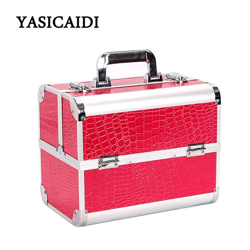 71644476431 Hot Sale Professional Make Up Box Makeup Case Beauty Case Cosmetic Bag  Multi Tiers Lockable Box Large Capacity Storage Makeup Brushes Designer  Handbags From ...