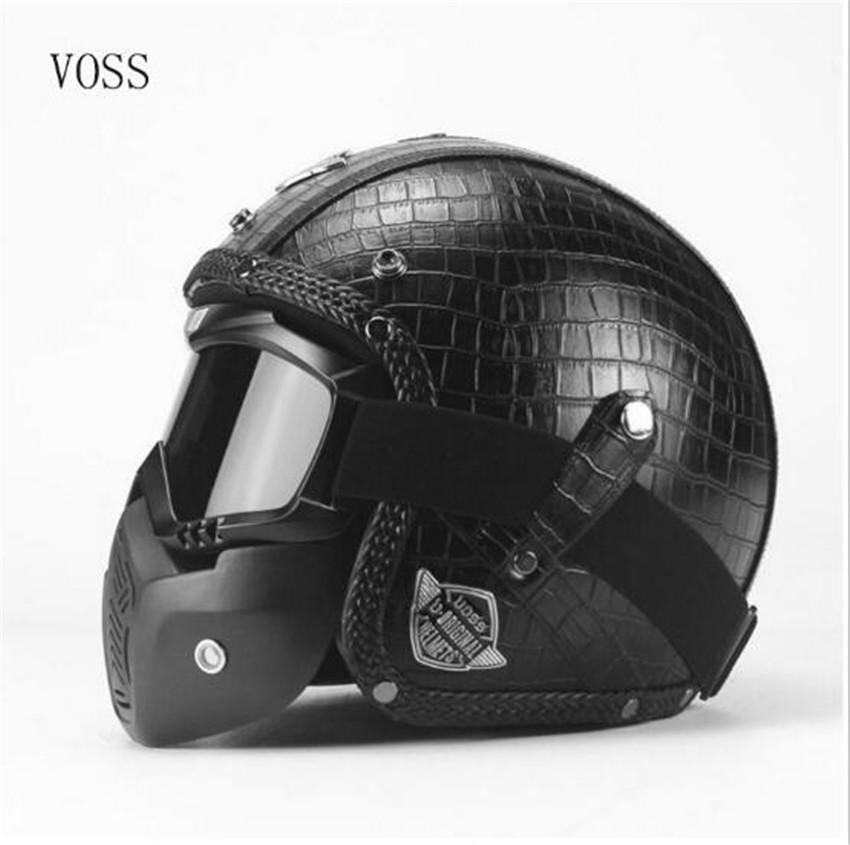 Motorcycle Helmets For Sale >> Half Open Face Motorcycle Helmet With Goggles Visor Scarf Biker Scooter Touring Helmet For Harley S M L Xl Xxl Size Moto Casco