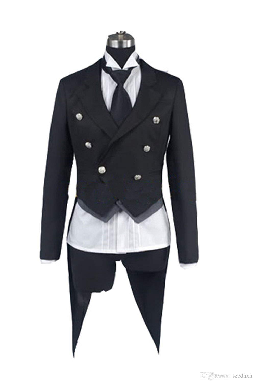 black butler kuroshitsuji sebastian michaelis cosplay tuxedo jacket