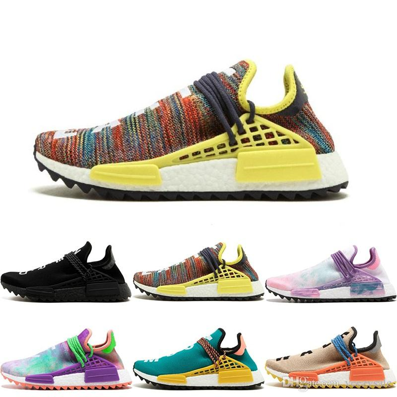 6718d3ad13f48 2019 New Arrival Human Race Trail Running Shoes Men Women Pharrell Williams  Human Race Yellow Nerd Core Black White Red Sport Runner Sneakers From  Yeezysale ...