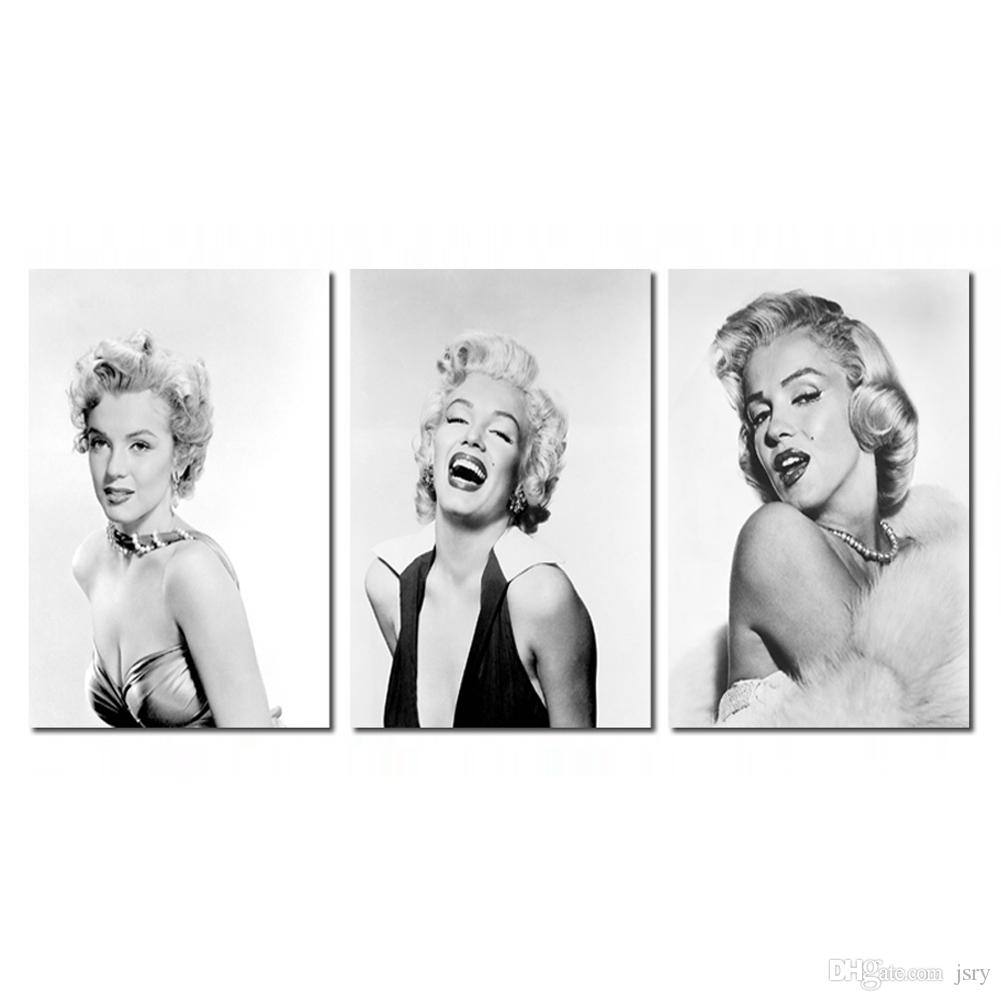 Online Cheap 3panels Marilyn Monroe,Hd Art Oil Painting Print On ...