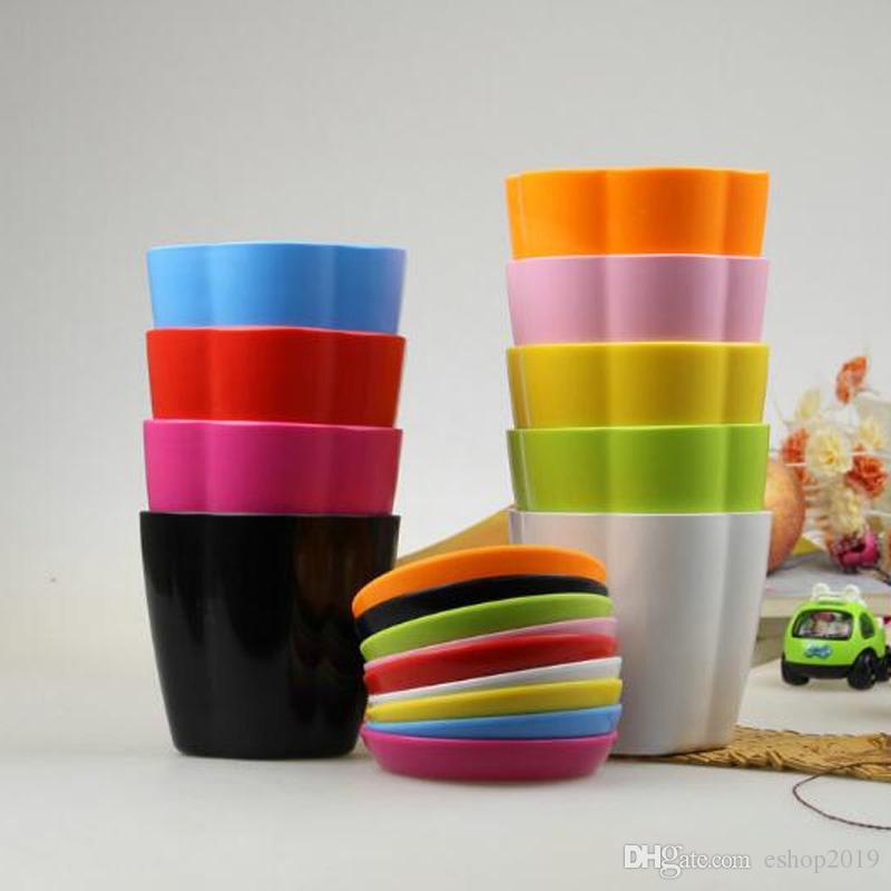 2018 Vasos de Flores Mini Vaso de Jardim Inquebrável Vasos De Viveiro de Plástico para Plantas Suculentas Casa Decoração Pequena Flor cama