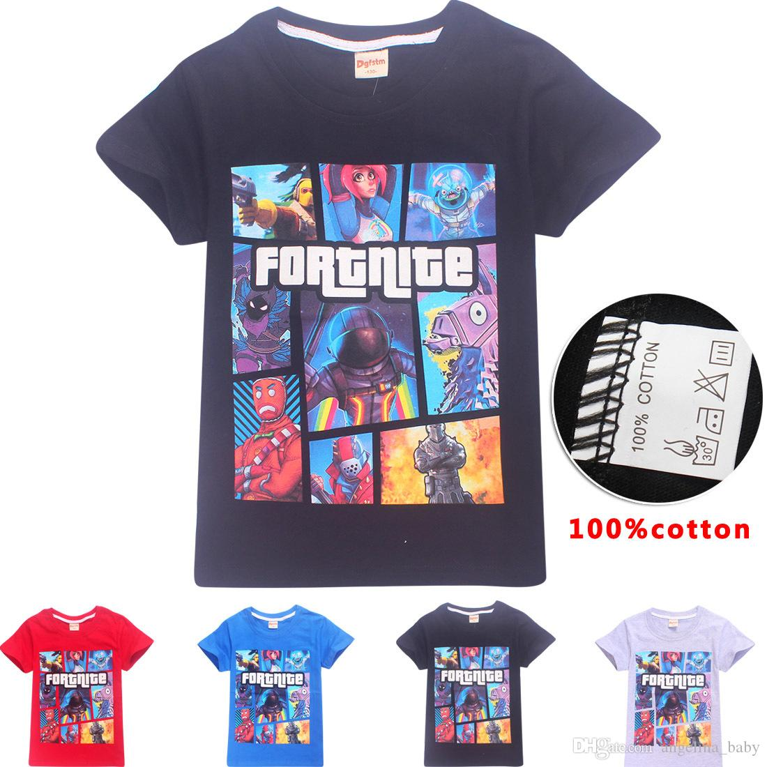 fe330405e 2019 Boys Girls Fortnite T Shirt 2018 New Children Game Cartoon Cotton  Short Sleeve T Shirt Baby Kids Clothing Z11 From Angelina_baby, $4.93 |  DHgate.Com