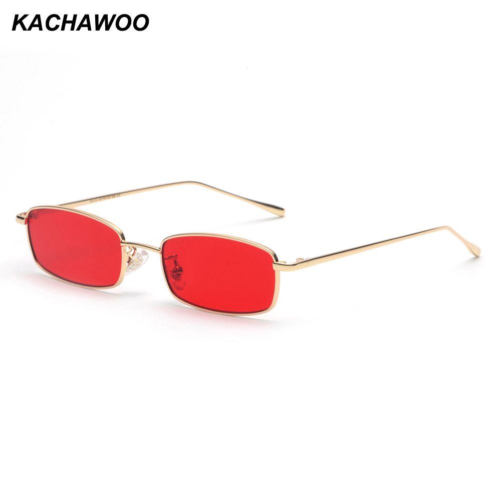 Compre Kachawoo Atacado Pequeno Retangular Óculos De Sol Dos Homens De  Metal Retro Frame Homens De Ouro Moda Óculos De Sol Para As Mulheres Unisex  Verão De ... a2ba7af20b