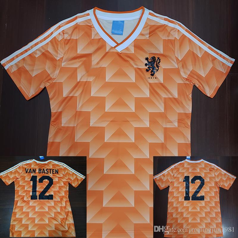1988 Van Basten Gullit Retro Soccer Jersey 88 Netherlands Jersey ... 1095f75db2610