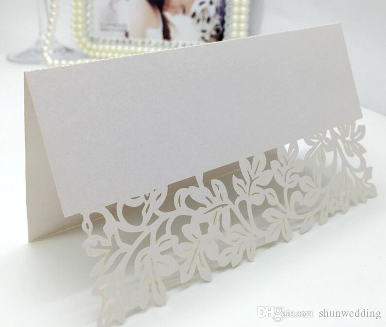 Hollow out flower Laser Cut Place Cards Wedding Name Cards for Wedding Party Table Decoration Wedding Supplies