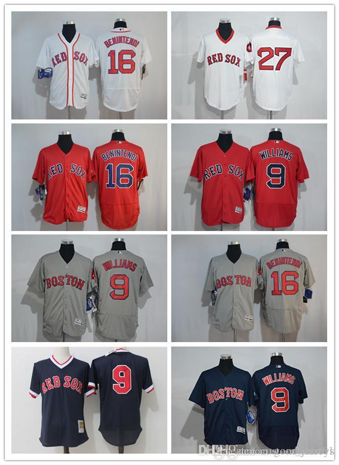 more photos a1a57 9d095 custom Men women youth Majestic Red Sox Jersey #9 Ted Williams 27 Carlton  Fisk Home Blue Red Baseball Jerseys