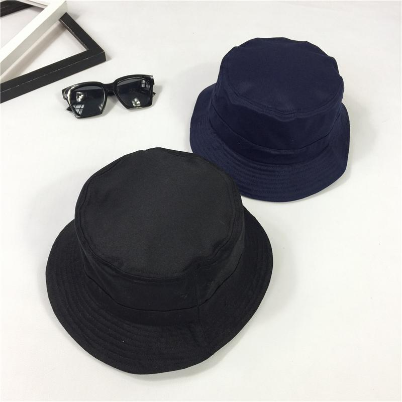 2017 Winter New Hot Fashion Women Casual Simple Bucket Hats Female Basic Foldable Solid Color Sun Hats Caps Black/Navy Blue